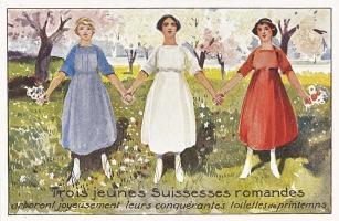 Trois jeunes Suissesses romandes